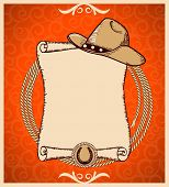 stock photo of lasso  - Western New Year Rodeo card - JPG
