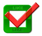Like Tick Means Social Media And Checked