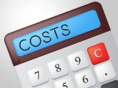 Costs Calculator Shows Pay Money And Charge