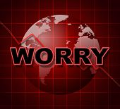 Worry Graph Shows Uneasiness Data And Diagram