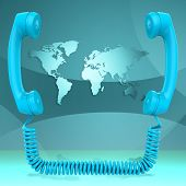 International Call Represents Globalisation Chat And Earth