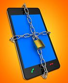 Smartphone Locked Shows Web Protect And Unauthorized