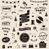 Set of party icons. Vector signs and symbols templates for your design