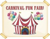 Retro style carnival tent poster