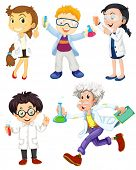 picture of scientist  - Scientists and doctors on white - JPG