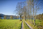 image of bavaria  - An image of a way to the Kochelsee in Bavaria Germany - JPG