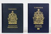 Old And New Canadian Passport
