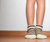 Girl`s Legs In Socks
