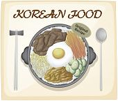 Korean food poster with text