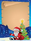 Christmas thematic parchment 8 - eps10 vector illustration.