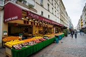A fruit and vegetable market in Paris