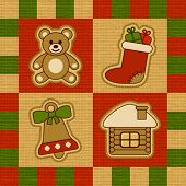 Christmas quilt. Vector