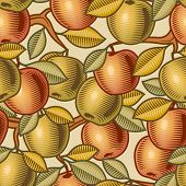 Seamless apple background. Vector