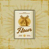 Retro Flour Pack. Vector