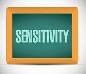 Sensitivity Message Sign Illustration