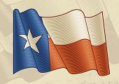 Vintage Texas Flag. Vector