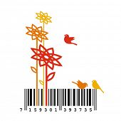 Nature Barcode Concept. Vector