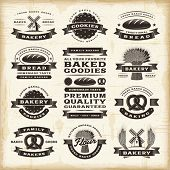 stock photo of star shape  - Vintage bakery labels set - JPG