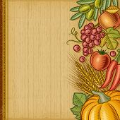 Retro harvest background. EPS10 editable vector illustration with clipping mask.