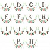 Monogram Wreath Table Card A to N