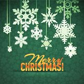 Snowflake winter background, christmas pattern. Merry Christmas and Happy New Year