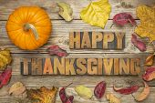 image of fall decorations  - Happy Thanksgiving   - JPG