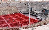 People Inside Arena Verona - The Place Of Annual Festival Operas In Verona, Italy