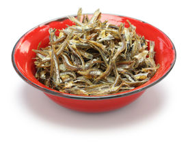 picture of malaysian food  - fried ikan bilis - JPG
