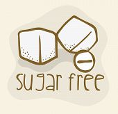 picture of free-trade  - Sugar free over beige background - JPG