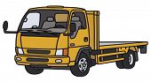 stock photo of lorries  - Hand drawing of a small orange lorry truck  - JPG