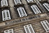 picture of bordeaux  - Facade of an old stone building in Bordeaux France - JPG