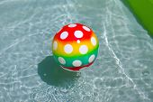 image of pool ball  - Ball in a pool - JPG