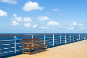 Bench on the ocean