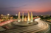 picture of democracy  - The Democracy Monument at twilight time at BangkokThailand