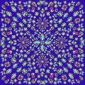 image of precious stone  - illustration background with circular ornaments of precious stones - JPG