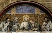 stock photo of eucharist  - This photograph represent an mosaic of the Last Supper of Chris from Bremen Cathedral  - JPG