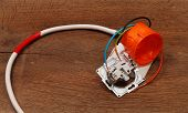 foto of wire cutter  - repair of electrical installation in the house and wires - JPG