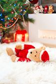stock photo of sad christmas  - Forgotten gift - JPG