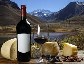 image of aconcagua  - cheese and wine - JPG