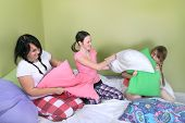 Teen Pillow Fight
