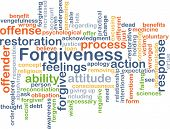 image of forgiveness  - Background concept wordcloud illustration of forgiveness - JPG