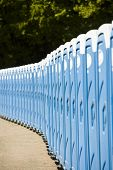 image of porta-potties  - Blue Public toilets in a row outdoors - JPG