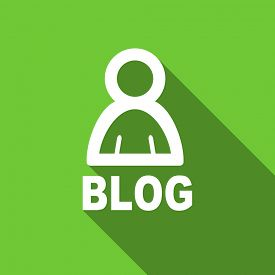 image of blog icon  - blog flat icon  original modern design flat icon for web and mobile app with long shadow  - JPG