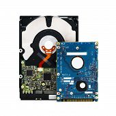Hard Disk Drives On White (Include Clipping Path)
