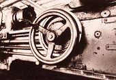 Vintage industrial detail. Retro factory