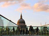 Saint Paul'S Cathedral And Millenium Bridge, London