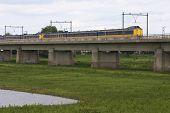 Train On Bridge