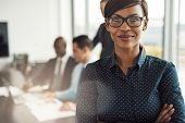 Beautiful Young Professional Woman In Office poster