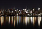 Midtown (West Side) Manhattan at night (panoramic photo made of multiple shots -> great resolution,