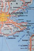 London, United Kingdom as a travel destination on a map poster